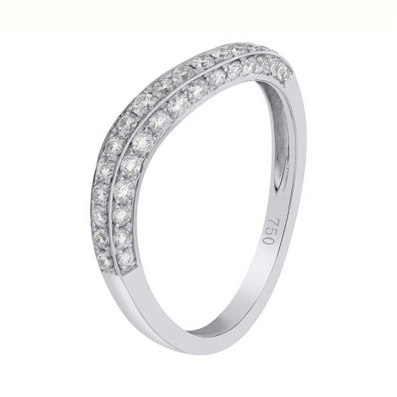 0.64 Ct. T.W. Diamond Band In 18 Karat White Gold