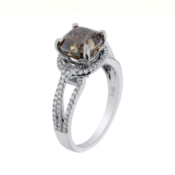 3.36 Ct. T.W. Diamond Ring In 18 Karat White Gold