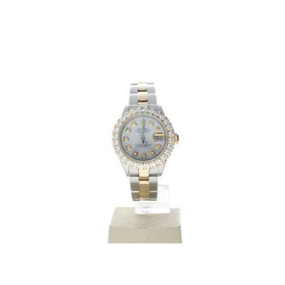 Rolex DateJust 26 Steel-and-18k-gold 6917 Mother-of-Pearl Dial Womens 26-mm Automatic self-wind Sapphire crystal. Swiss Made Wrist Watch