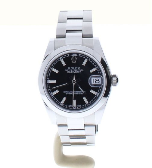 Rolex Lady DateJust 31 Stainless-steel 178240 Black Dial Midsize Automatic Watch