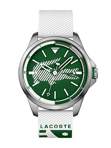 Lacoste Men's Capbreton Quartz Stainless Steel and Rubber Strap Casual Watch, White, 2010965