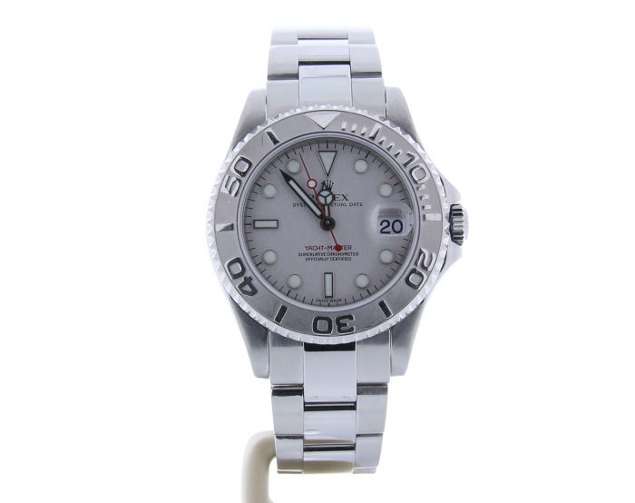 Rolex Yacht-Master Mid-Size 168622 Grey Dial Womens 35-mm Automatic Watch