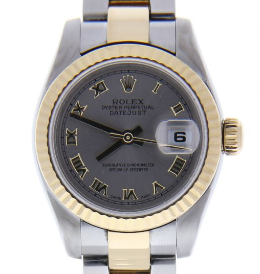 Rolex DateJust 26 Steel-and-18k-gold 179173 Silver Dial Womens 26-mm Automatic s