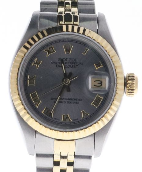 Rolex Lady Date Two-Tone 6917 Silver Roman Dial 26-mm Automatic self-wind Watch