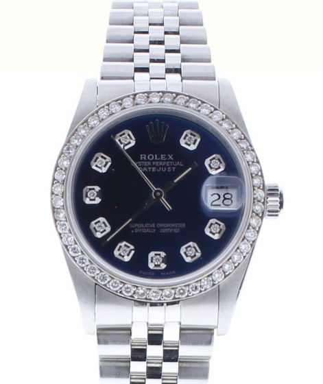 Rolex Lady DateJust 68240 Midsize Stainless-steel Blue Dial 31mm Automatic Watch