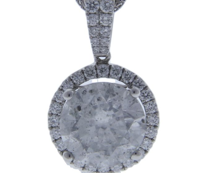 4.40 ct. t.w. Diamond Pendant in 18 Karat White Gold