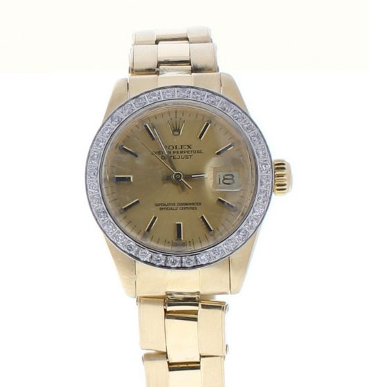Rolex Date 26 Yellow-gold 6916 Champagne Dial Womens 26-mm Automatic self-wind Watch