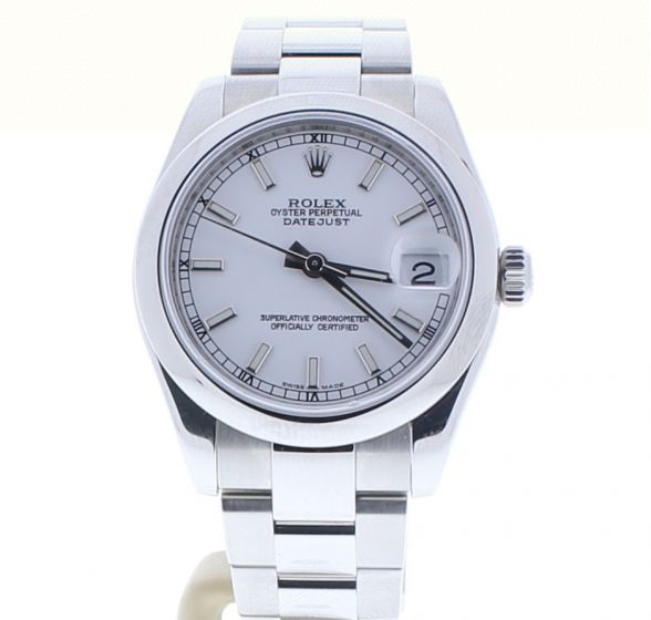 Rolex Lady DateJust 31 Stainless-steel 178240 White Dial Midsize Automatic Watch