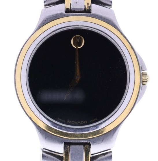 Movado Museum Stainless-steel 4228822 Black Dial Mens 34-mm Quartz Sapphire crys