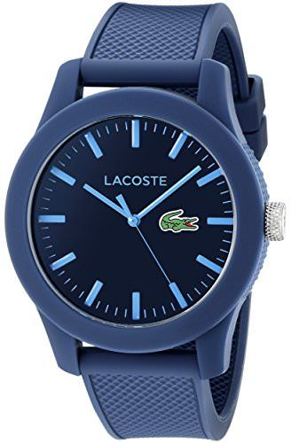 Lacoste Lacoste.12.12 Resin 2010765 Blue Dial Mens 43-mm Quartz Mineral crystal. Designed in France Wrist Watch