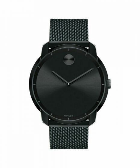 Movado Bold Stainless-steel 3600261 Black Dial Mens 44-mm Quartz Mineral crystal.  Wrist Watch