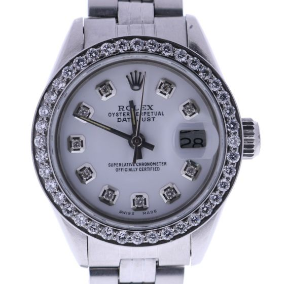 Rolex Date Lady 6916 Stainless-steel White Dial 26-mm Automatic self-wind Watch