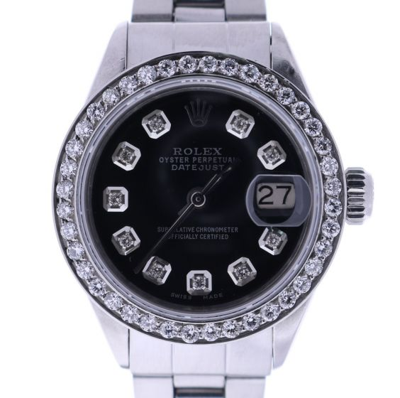 Rolex Lady Date Stainless-steel 6916 Black Dial 26-mm Automatic self-wind Watch