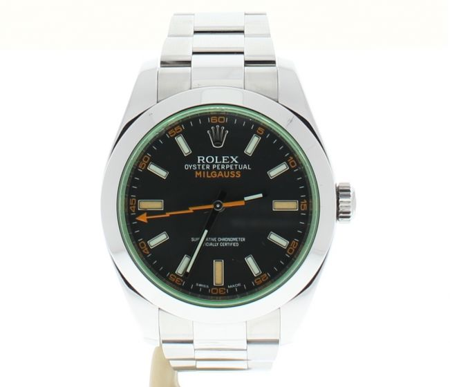 Rolex Milgauss Stainless-steel 116400 GV Green Mens 40-mm Automatic self-wind