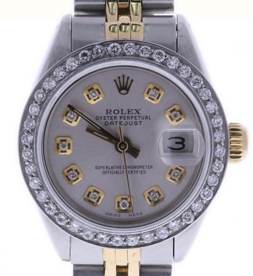 Rolex Lady Date 26 Steel-and-18k-gold 6917 Silver Dial 26-mm Automatic Watch