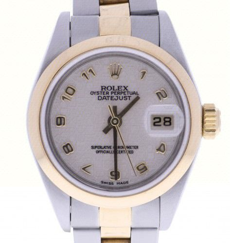 Rolex DateJust 26 Steel-and-18k-gold 79163 Beige Dial Womens 26-mm Automatic sel