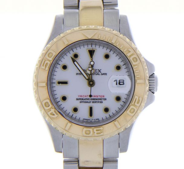 Rolex Yacht-Master Steel-and-18k-gold 69623 White Dial Womens 29-mm Automatic