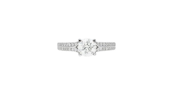 1.25 Ct. T.W. Diamond Ring in 18 Karat White Gold