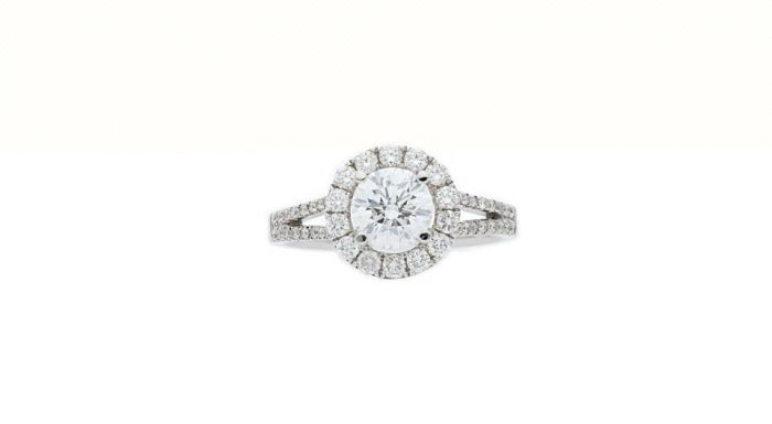 1.56Ct. T.W. Diamond Ring In 18 Karat White Gold