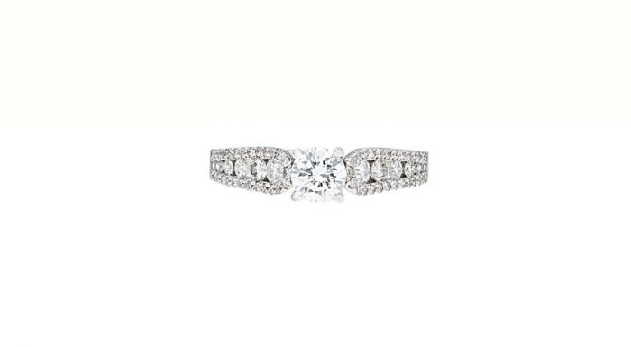 0.94 Ct. T.W. Diamond Ring In 18 Karat White Gold