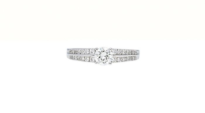 0.31 Ct. T.W. Diamond Ring In 18 Karat White Gold