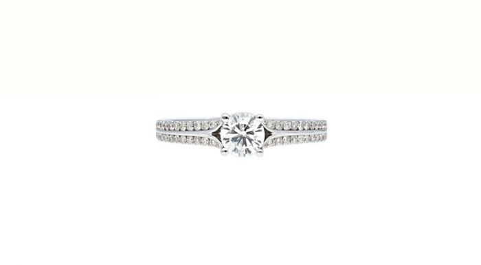 0.25 Ct. T.W. Diamond Ring In 18 Karat White Gold
