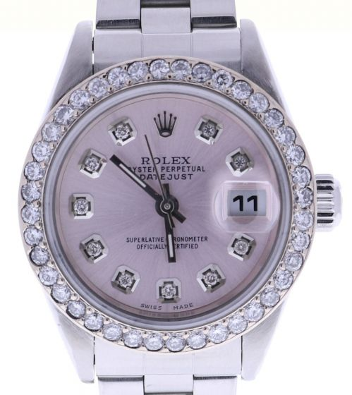 Rolex Lady DateJust Stainless-steel 79160 Pink Dial 26-mm Automatic watch