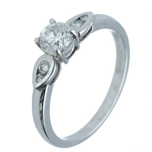 0.60 Ct. T.W. Five Stone Ring in 18 Karat White Gold