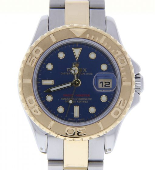 Rolex Lady Yacht-Master Steel-and-18k-gold 169623 Blue Dial 29mm Automatic Watch