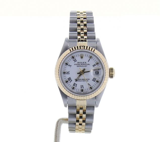 Rolex Lady DateJust 26 Steel-and-18k-gold 69173 White Dial 26-mm Automatic Watch