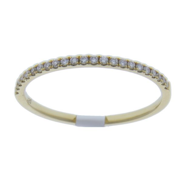 0.12 Ct. T.W. Diamond Band In 18 Karat Yellow Gold