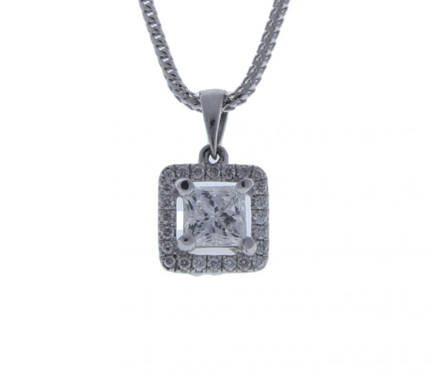 0.60 ct. t.w. Diamond Diamond Pendant in 18 Karat White Gold