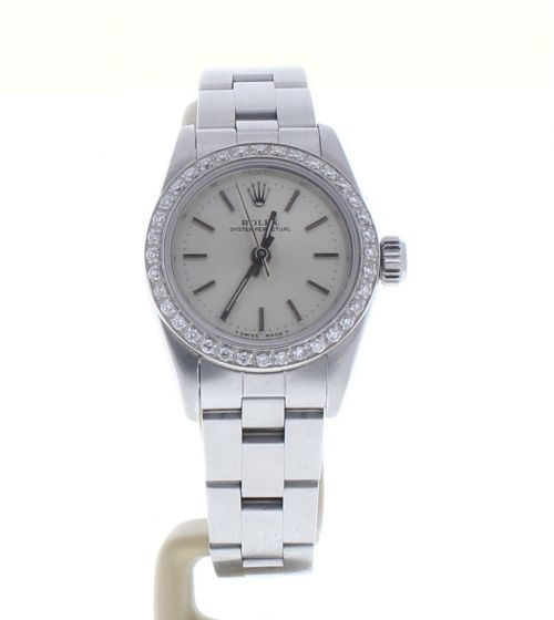 Rolex Lady Oyster Perpetual Stainless 67180 Silver Dial 26-mm Automatic watch