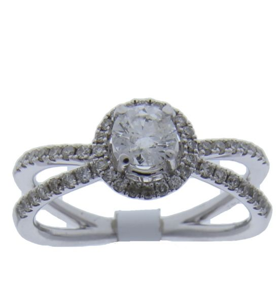 0.51 Ct. T.W. Diamond Ring In 18 Karat White Gold