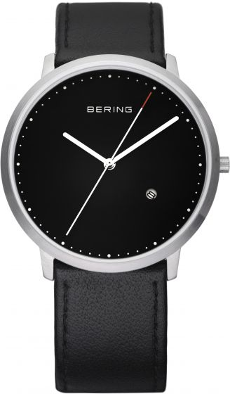 BERING Time 11139-402 Unisex Classic Collection Watch with Calfskin Band.