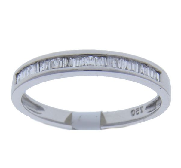 0.16 Ct. T.W. Diamond Band In 18 Karat White Gold