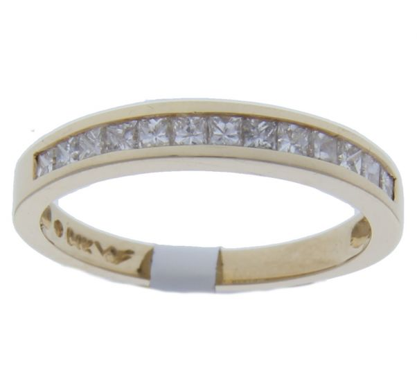 0.50 Ct. T.W. Diamond Band In 18 Karat Yellow Gold