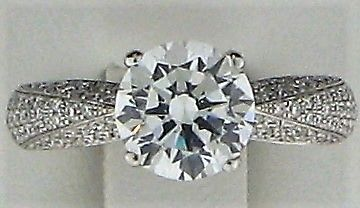 0.5ct Round  Diamond and Round White Diamond  18k WG Rings - 187813