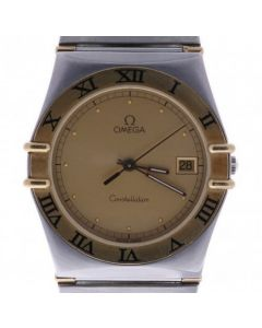Omega Constellation 1448-5/431 Steel-and-18k-gold 33mm Champagne Dial Mens watch