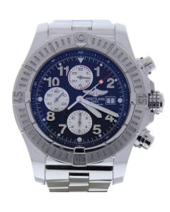 Breitling Super Avenger Stainless-steel A13370 Blue Dial Mens 48-mm Automatic se
