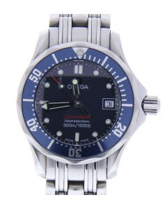 Omega Seamaster Stainless-steel 222480 Blue Dial Womens 28-mm Quartz Sapphire cr