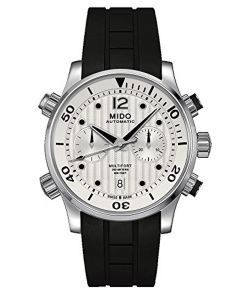 Mido M0059141703000 Multifort Mens Watch - Silver Dial Stainless Steel Case Automatic Movement