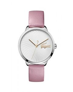 Lacoste Women's Lexi Quartz Stainless Steel and Leather Strap Strap Casual Watch, Pink, 2001057
