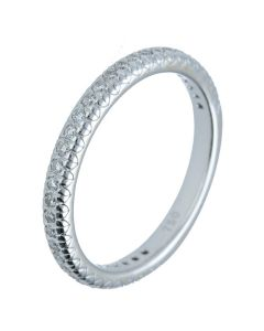 0.28 ct. t.w.t Diamond Half Eternity Band in 18k White Gold