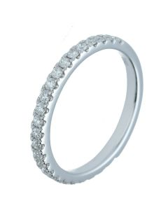 0.44 ct. t.w.t Diamond Half Eternity Band in 18k White Gold