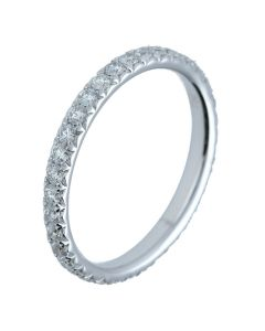 0.79 ct. t.w.t Diamond Full Eternity Band in 18k White Gold