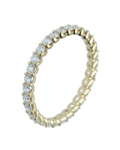 0.79 ct. t.w.t Diamond Full Eternity Band in 18k Yellow Gold