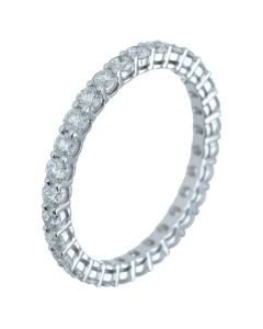 1.13 ct. t.w.t Diamond Full Eternity Band in 18k White Gold