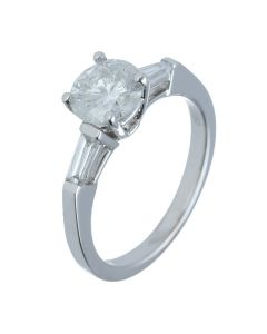 1.47 ct. t.w.t Diamond Three-stone Ring in 18k White Gold