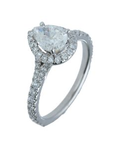 1.61 ct. t.w.t Diamond Halo Ring in 18k White Gold